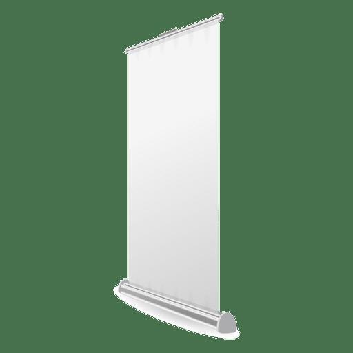 Banner de rollup en blanco