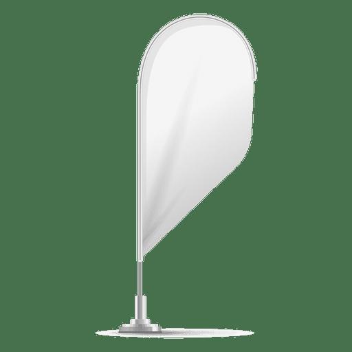 Blank teardrop flag Transparent PNG