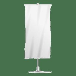 Bandera de banner vertical en blanco