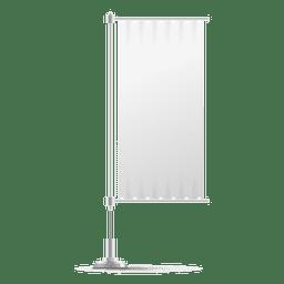 Bandera vertical en blanco