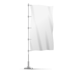 Blank vertical flag on pole