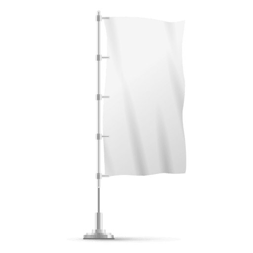 Blank vertical flag on pole Transparent PNG