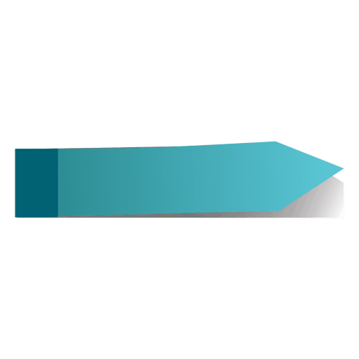 Blue post it arrow sticker Transparent PNG