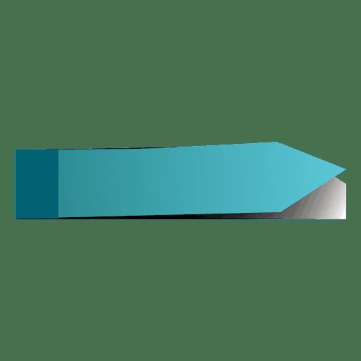 Pegatina de flecha azul post it Transparent PNG