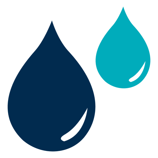 Blue water drops icon - Transparent PNG & SVG vector