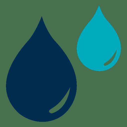 Icono de gotas de agua azul