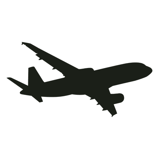 Boeing airplane flying silhouette
