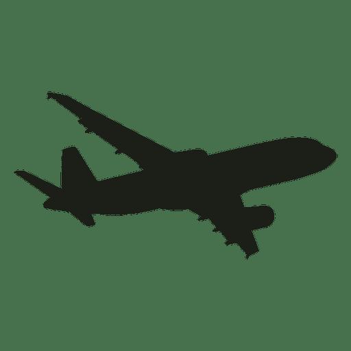 Silueta de vuelo de avión Boeing