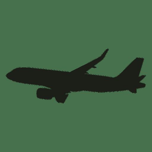 Boeing airplane in flight silhouette