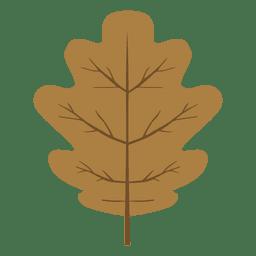 Hoja de roble otoño marrón