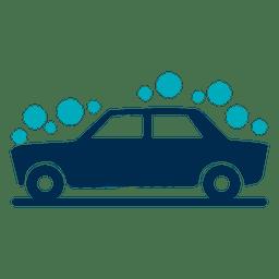 Icono de coche cubierto de burbujas