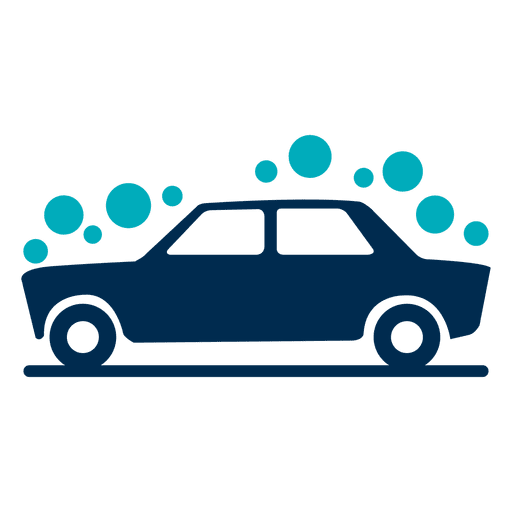 Bubbles covered car icon