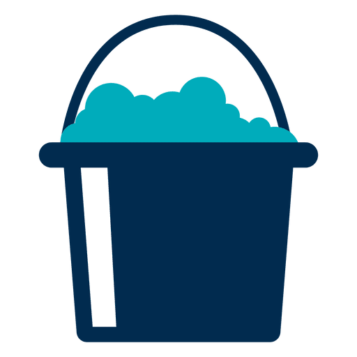 Bucket with foam icon Transparent PNG