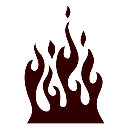 Burning fire silhouette icon