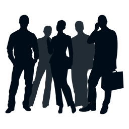 Grupo de personas de negocios silueta