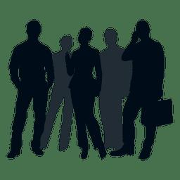 Silhueta de grupo de pessoas de negócios