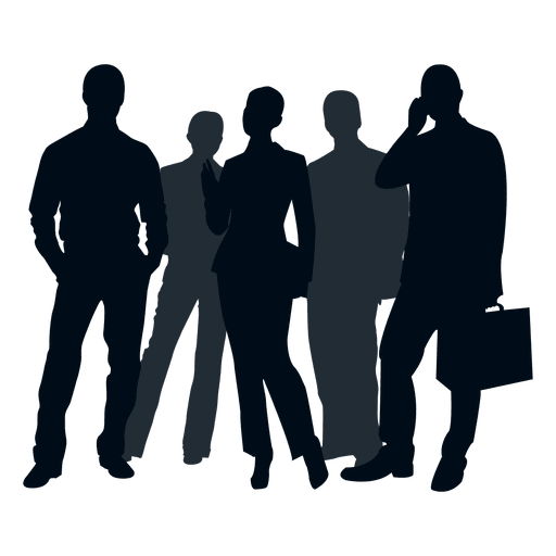 Business people group silhouette - Transparent PNG & SVG ...