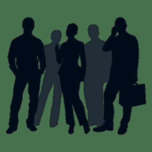 Silueta de grupo de personas de negocios