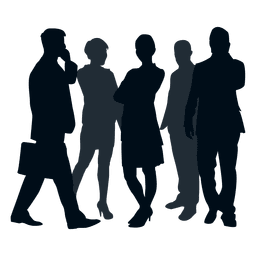 Business team group silhouette