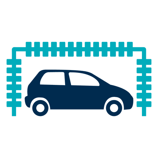 Car in tunnel wash icon Transparent PNG