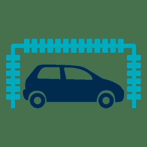 Car in tunnel wash icon
