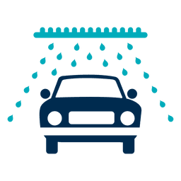 Carro, em, lavagem, túnel, ícone