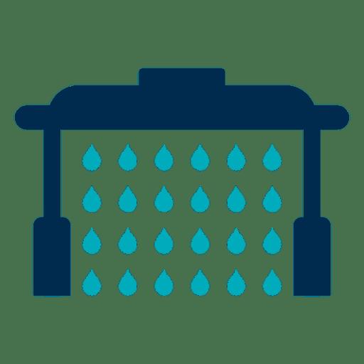 Icono de túnel de lavado de coches Transparent PNG