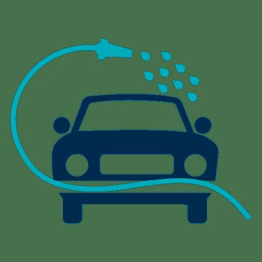 Auto gewaschen mit Schlauchsymbol Transparent PNG