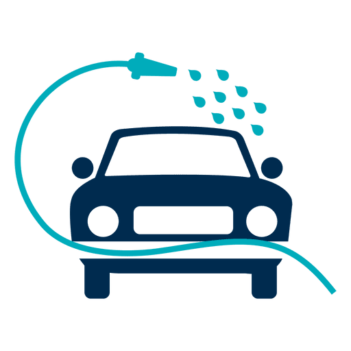 Car washed with hose icon