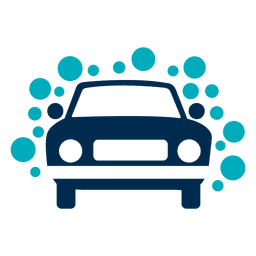 Ícone de carro com bolhas