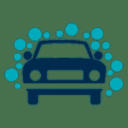 Carro, com, bolhas, ícone