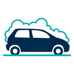 Auto mit Schaumsymbol