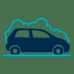 Carro, com, espuma, ícone