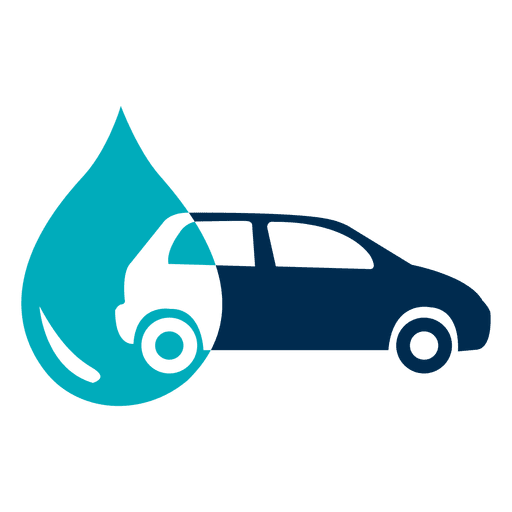Car with water drop icon