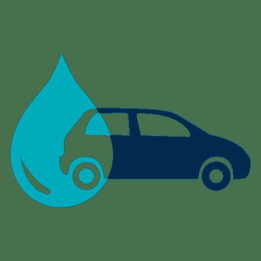 Coche con el icono de gota de agua Transparent PNG