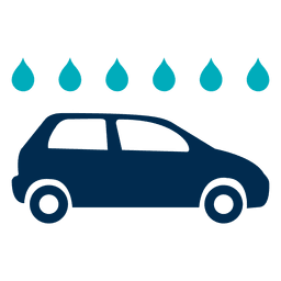 Car with water drops icon
