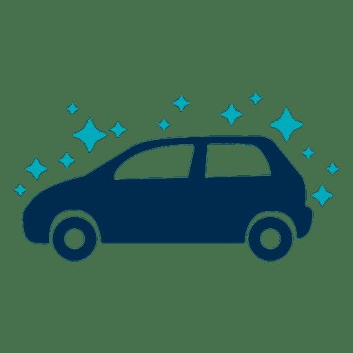 Clean sparkling car icon Transparent PNG