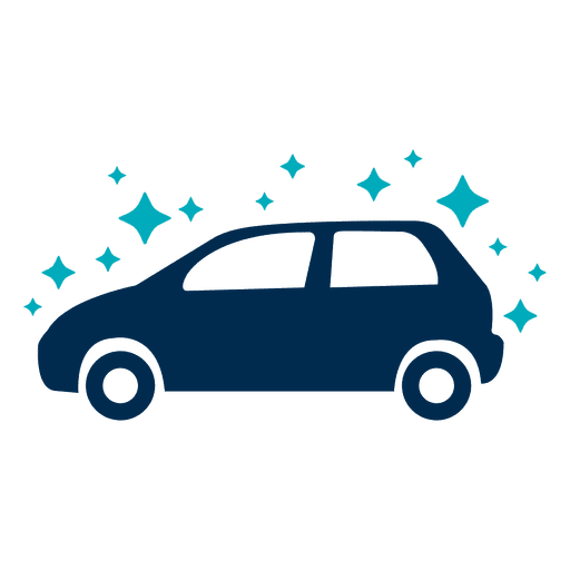 Clean sparkling car icon