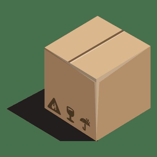 Caja cerrada con carteles. Transparent PNG