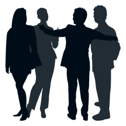 Colleague group silhouette