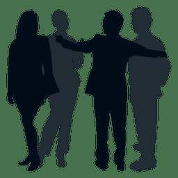 Kollegengruppe Silhouette