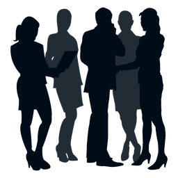 Colleague team silhouette