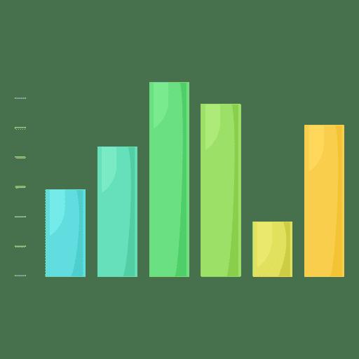 Column chart graph Transparent PNG