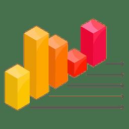 Gráfico de columnas con flechas