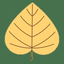 Cordate folha de outono amarela