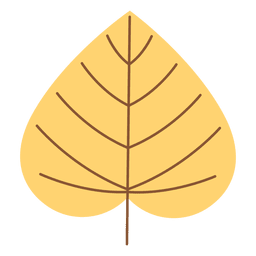 Folha de outono amarelo Cordado
