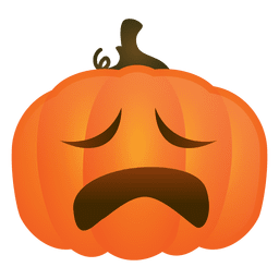 Crying halloween pumpkin