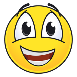 Emoticon bonito e feliz