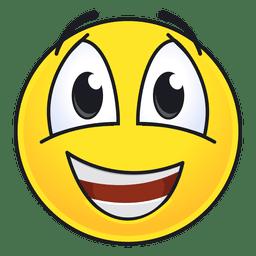 Netter glücklicher Emoticon