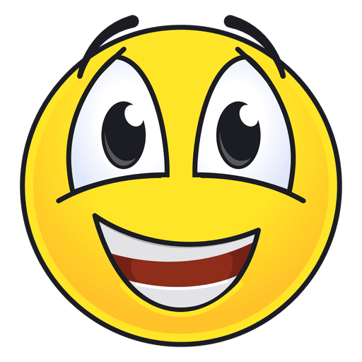 Lindo emoticon feliz Transparent PNG